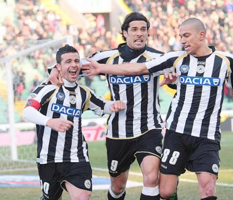 Udinese increase to Champions League