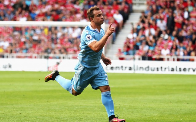 Shaqiri will miss the match Stoke City vs. Tottenham Hotspur